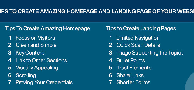 7 Tips to Create Amazing Homepage and Landing Page of Your Website